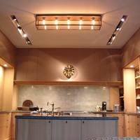 Landelijke plafondlamp glas lang, brons, chroom, nikkel