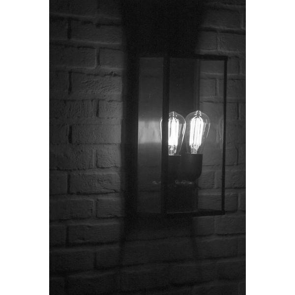 Dubbele wandlamp buiten landelijk brons, chroom, nikkel