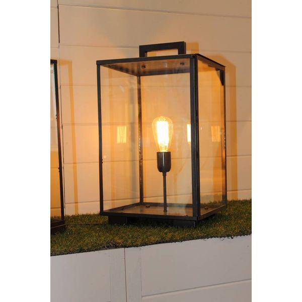 Tafel lantaarn landelijk binnen of buiten brons
