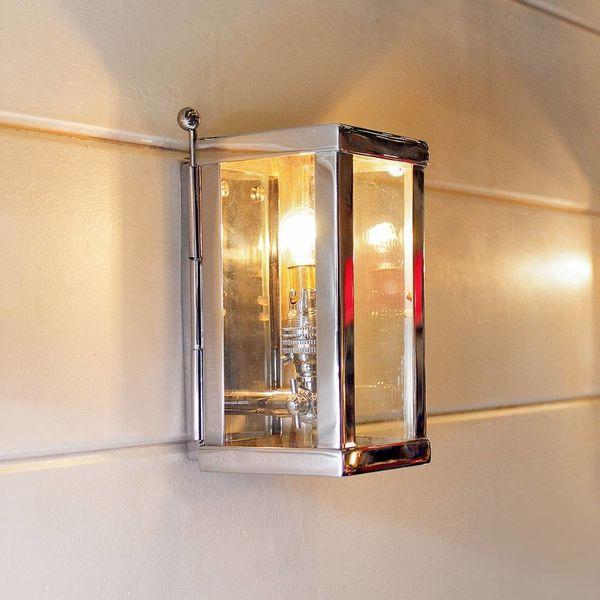 Landelijk wandlampje buiten brons, nikkel, chroom, glas