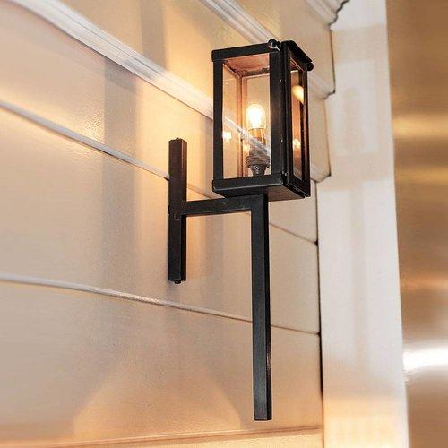 Applique flambeau extérieur lanterne rustique