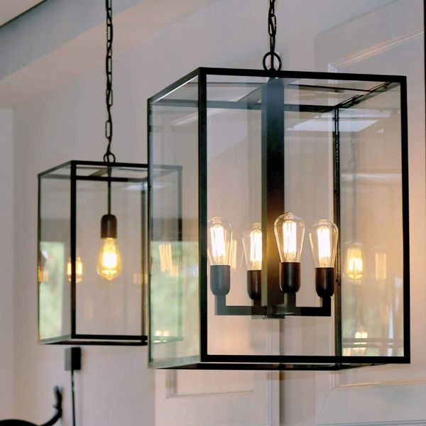 Beroemd Lamp lantaarn landelijk met glas 4xE27 - Feluce &GU93