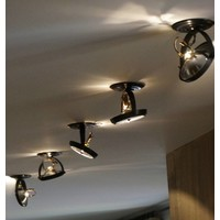 Spot plafond orientable rustique chic bronze, chrome, nickel