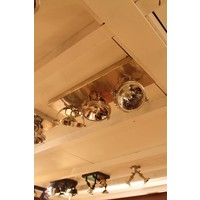 Mooie plafondlamp met 3 spots brons, nikkel, chroom
