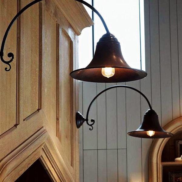 Lampe col de cygne ancienne rustique chic extérieur