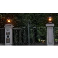 Sokkellamp buiten landelijk brons klein, medium, groot