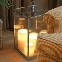 Lampe à poser transparente verre bronze 5 bougies