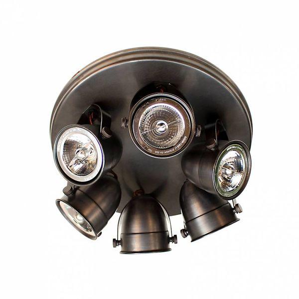 Plafondlamp spots landelijk brons, nikkel, chroom