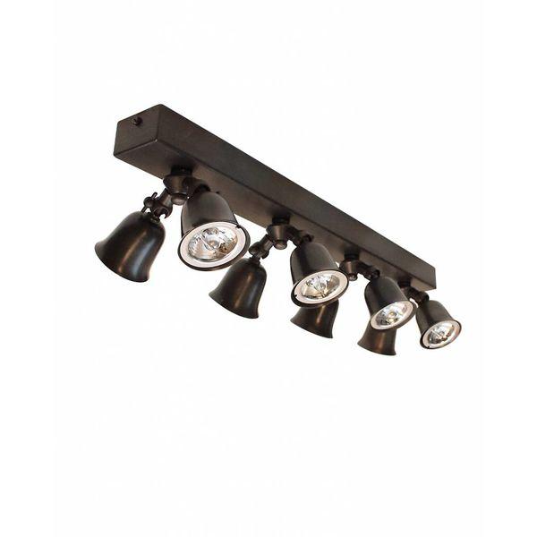 Rampe de spots campagne chic bronze, nickel, chrome