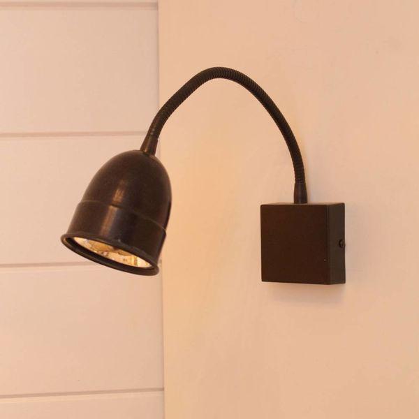Flexibele wandlamp landelijk brons, nikkel, chroom GU10