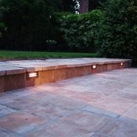Verlichting trap rechthoekig brons, nikkel, chroom
