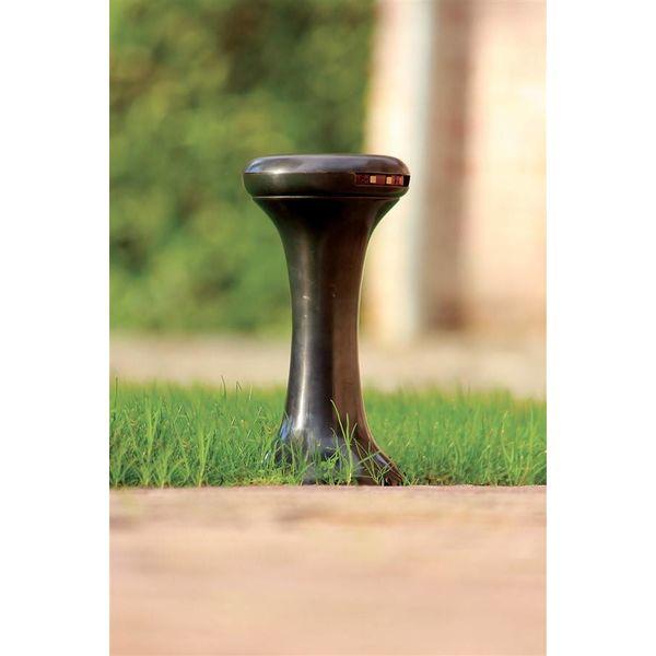 Borne lumineuse rustique bronze, nickel, chrome