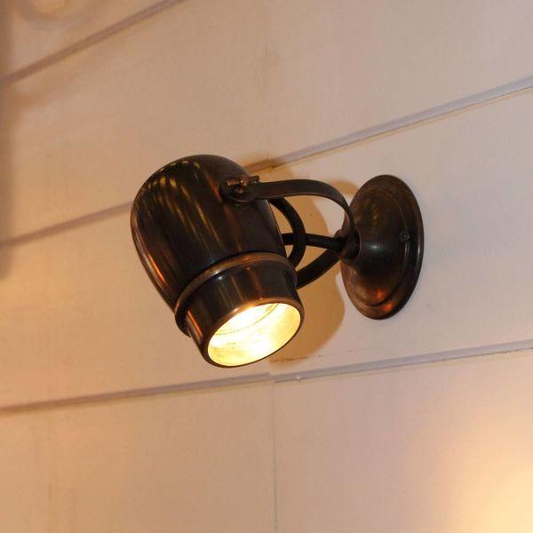 Wandlampje landelijk buiten brons, nikkel, chroom