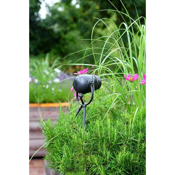 Spot de jardin rustique chic bronze, nickel, chrome