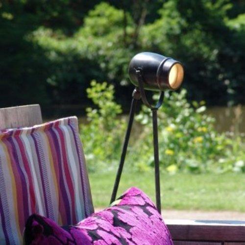 Vloerlamp buiten landelijk leeslamp GU10 brons