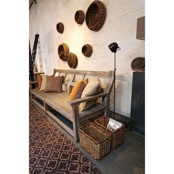 Vloerlamp landelijk brons, nikkel, chroom 140 cm H