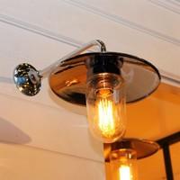 Eclairage porte d'entrée rustique chic bronze, nickel, chrome