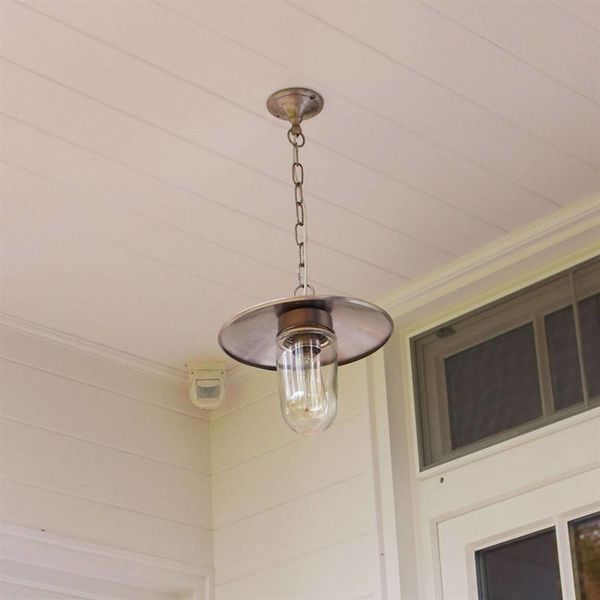 Lustre hall rustique bronze, nickel, chrome