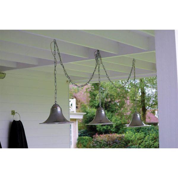 Suspension cloches rustique bronze, nickel, chrome
