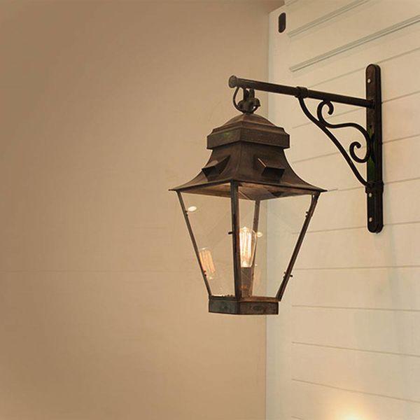 Geliefde Wandlamp lantaarn buiten landelijk brons glas 1xE27 - Feluce TZ69
