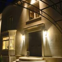 Applique lanterne extérieur bronze 2 ampoules, 2 spots