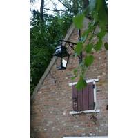 Wandlamp lantaarn buiten landelijk brons glas 1xE27
