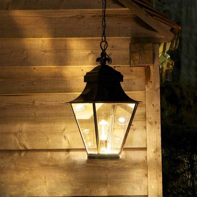Luminaire lanterne rustique bronze, nickel