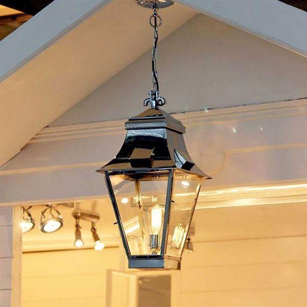 Rustieke hanglamp met ketting lantaarn buiten 1xE27 45cm H