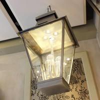 Grande lanterne rustique extérieur bronze, nickel