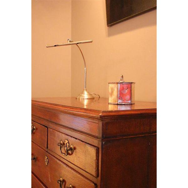 Tafellamp brons, geborsteld nikkel landelijk LED sfeervol