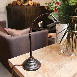 Lampe de notaire en bronze ou nickel brossé rustique LED