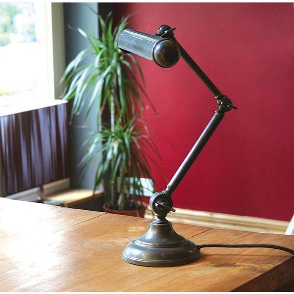 Lampe de bibliothèque bronze rustique chic