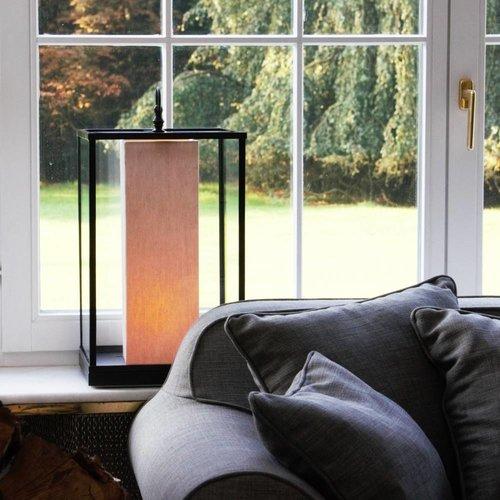 Lampe de table abat-jour rustique bronze, nickel, chrome
