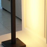 Lampadaire design salon bronze chaleureux rustique