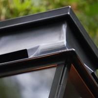Lanterne terrasse rustique à poser bronze verre