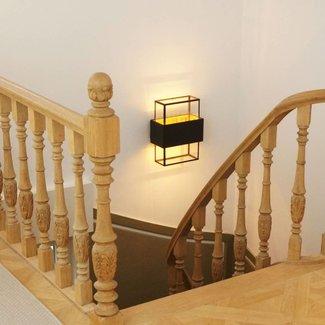 Applique murale escalier rustique verre bronze, laiton