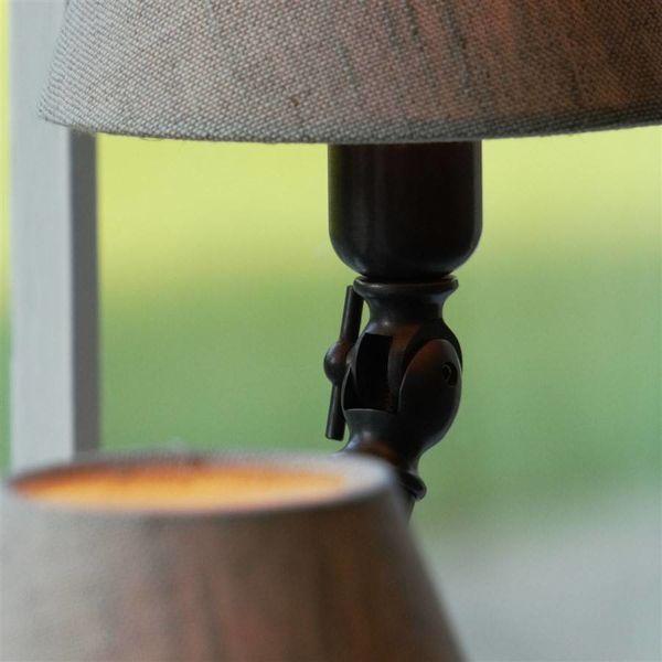 Lampe campagne chic bronze avec abat-jour