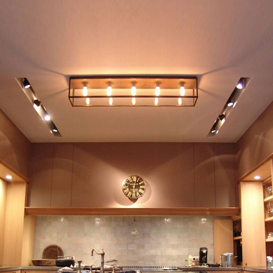 Landelijke verlichting keuken