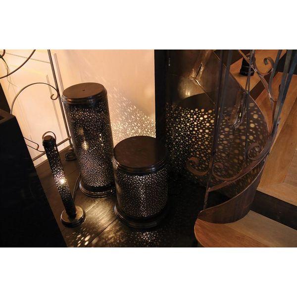 Lampe de chevet cylindrique romantique mur étoilé