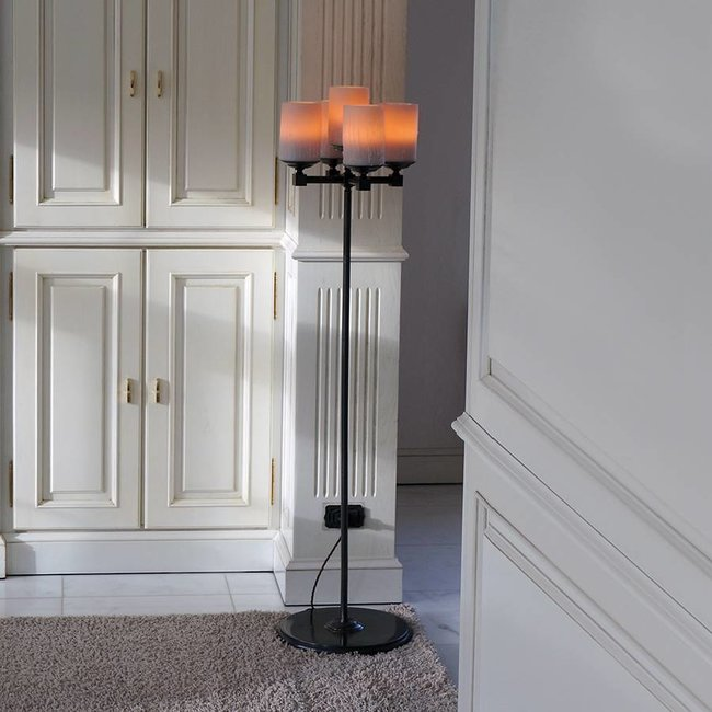 Lampadaire romantique style campagne chic avec bougies LED