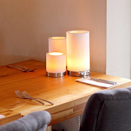 Lampe de table 3 bougies LED scintillantes
