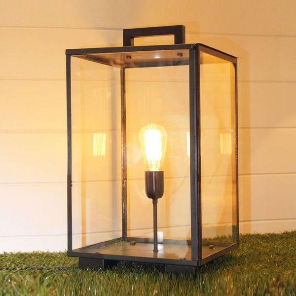 Lampe de chevet lanterne bronze extérieur ou intérieur