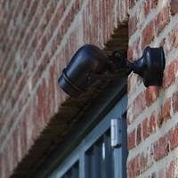 Bronzen wandlamp landelijk buiten richtbaar GU10