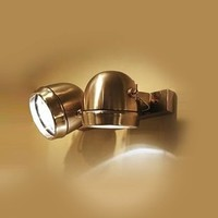 Applique double spot rustique bronze, nickel, chrome