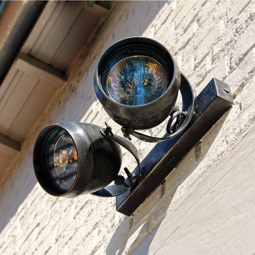 Applique murale spots orientables extérieur rustique
