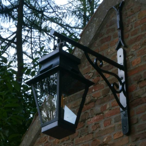 Lanterne murale extérieur rustique bronze verre