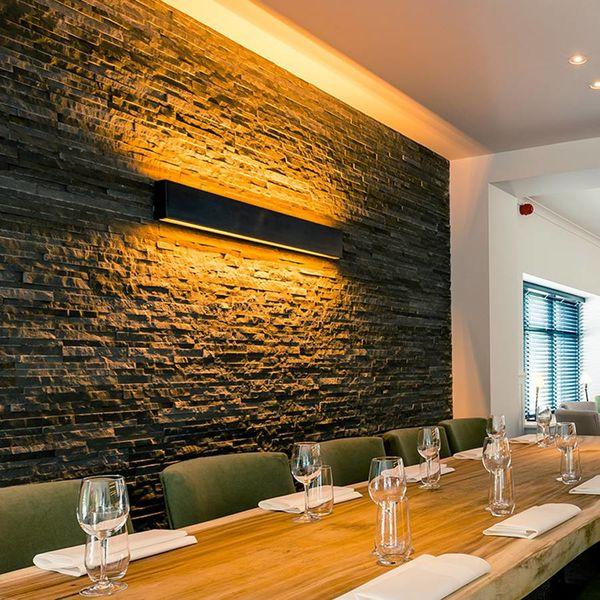 Applique haut et bas bronze rustique restaurant large
