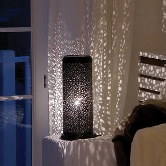 Sterren lamp staand 60, 150, 200, 250 mm brons, nikkel