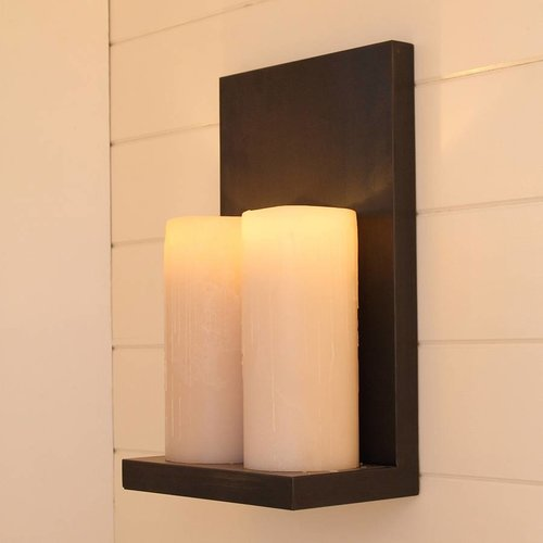 Applique murale bougies LED scintillantes cosy