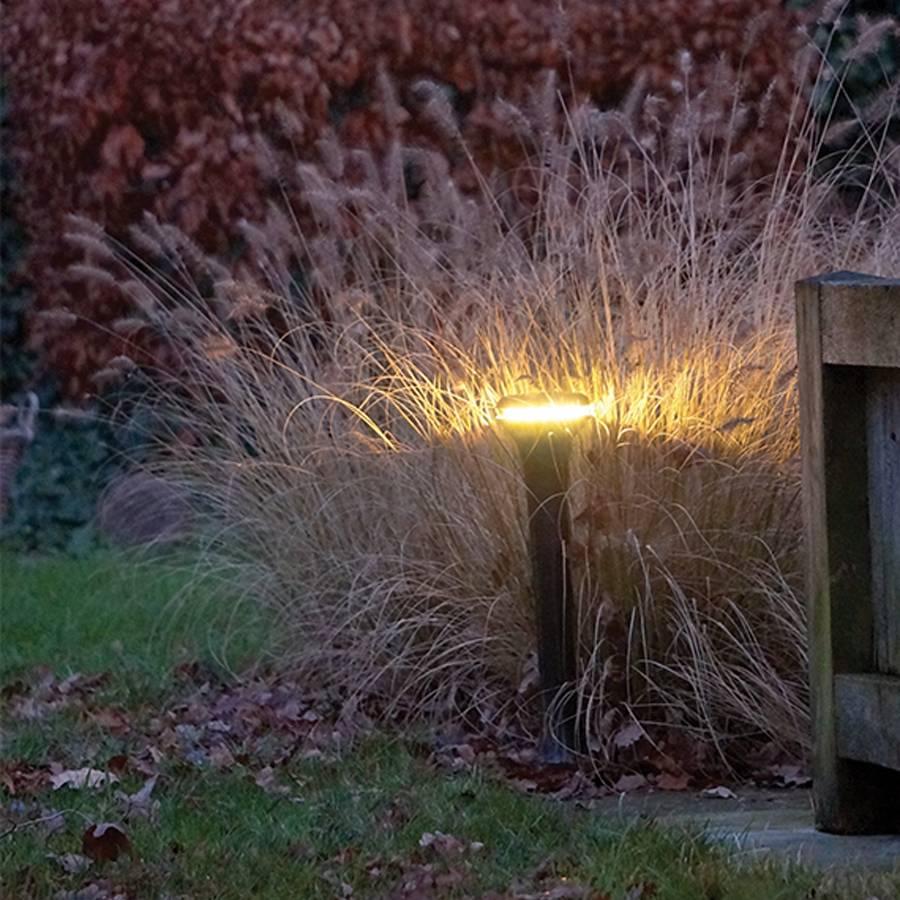Design tuinlamp LED 25cm H brons, nikkel, chroom